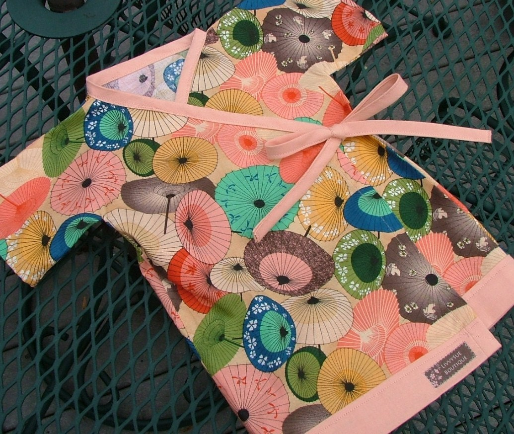 Umbrellas Kimono - Available in Size 0-6 mth, 6-12 mth, 12-18 mth, 18-24 mth, 2T and 3T