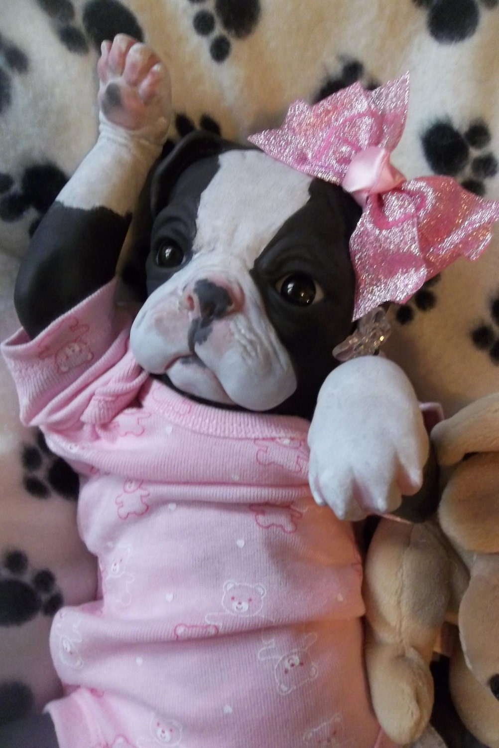 Custom Reborn Puppy Art Dog Doll Princess Baby By