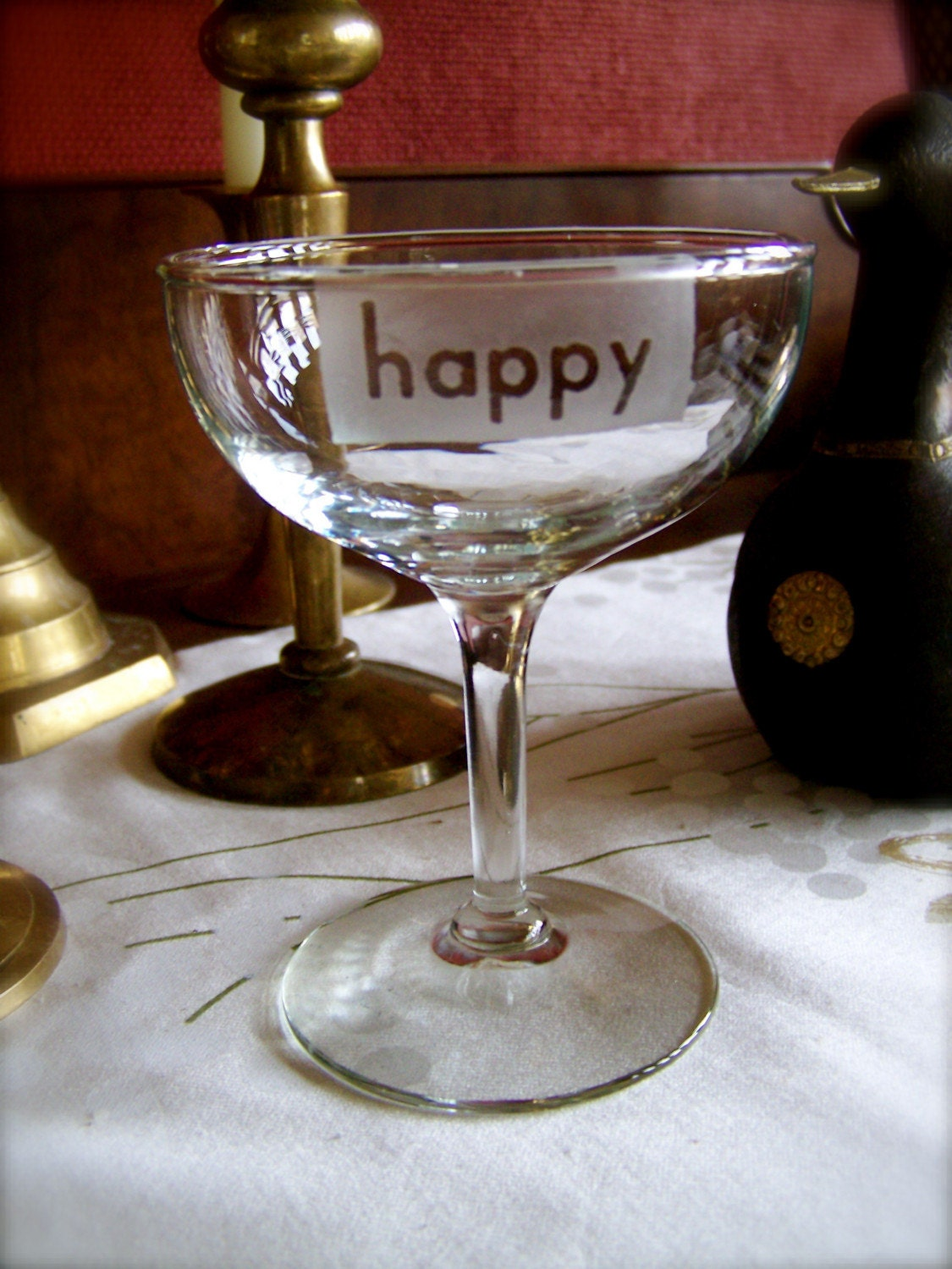 Happy Vintage Champagne/Martini Goblet - Set of Two