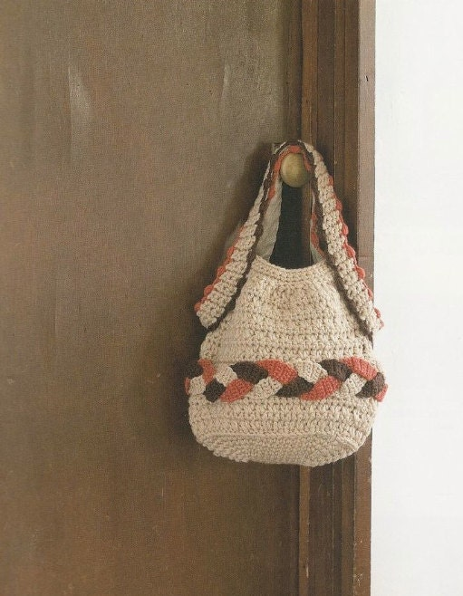 Japanese Crochet Bag : Japanese Crochet Handbag Tote Bag Pattern - Japanese Craft Crochet ...