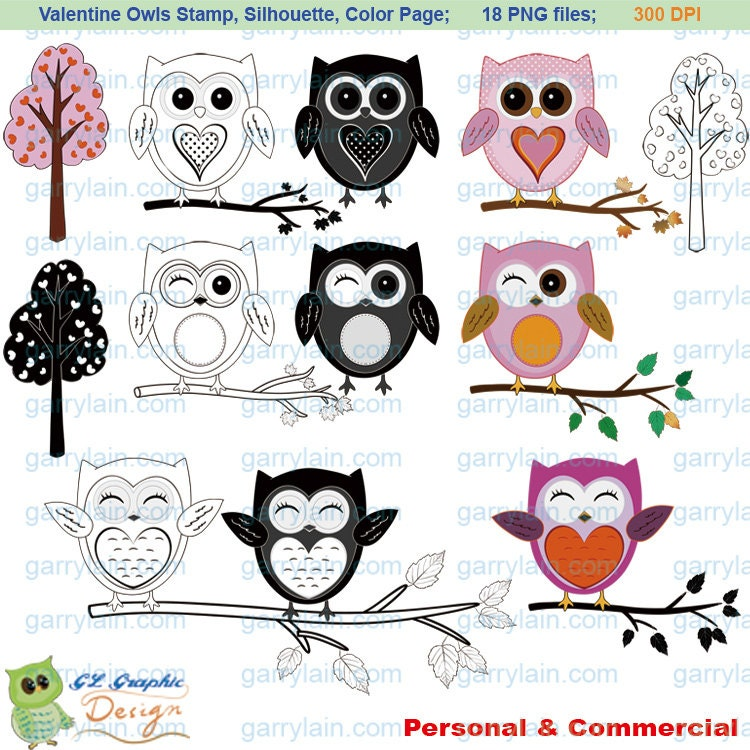valentines day coloring pages owls - photo#30