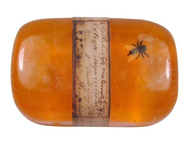 Jurassic Amber Soap (with insect)