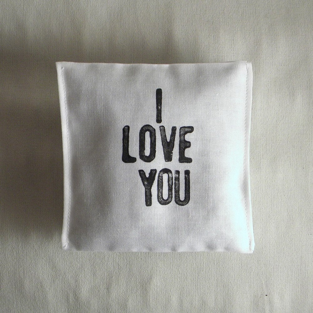 I Love You. organic lavender bags (set of three)