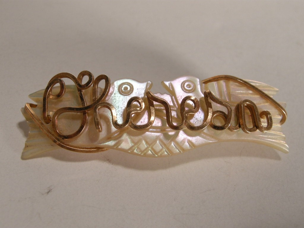 Personalized Name Rose Pin Custom Gold Wire Jewelry | eBay