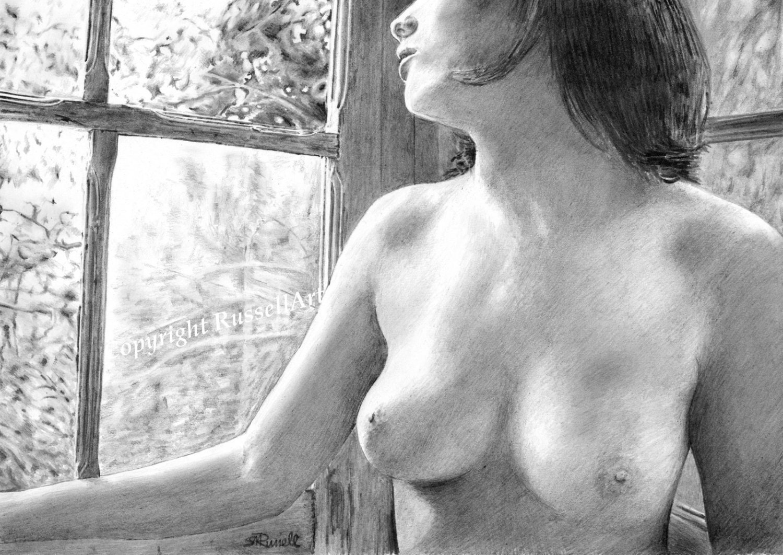 Female nude pencile softcore image