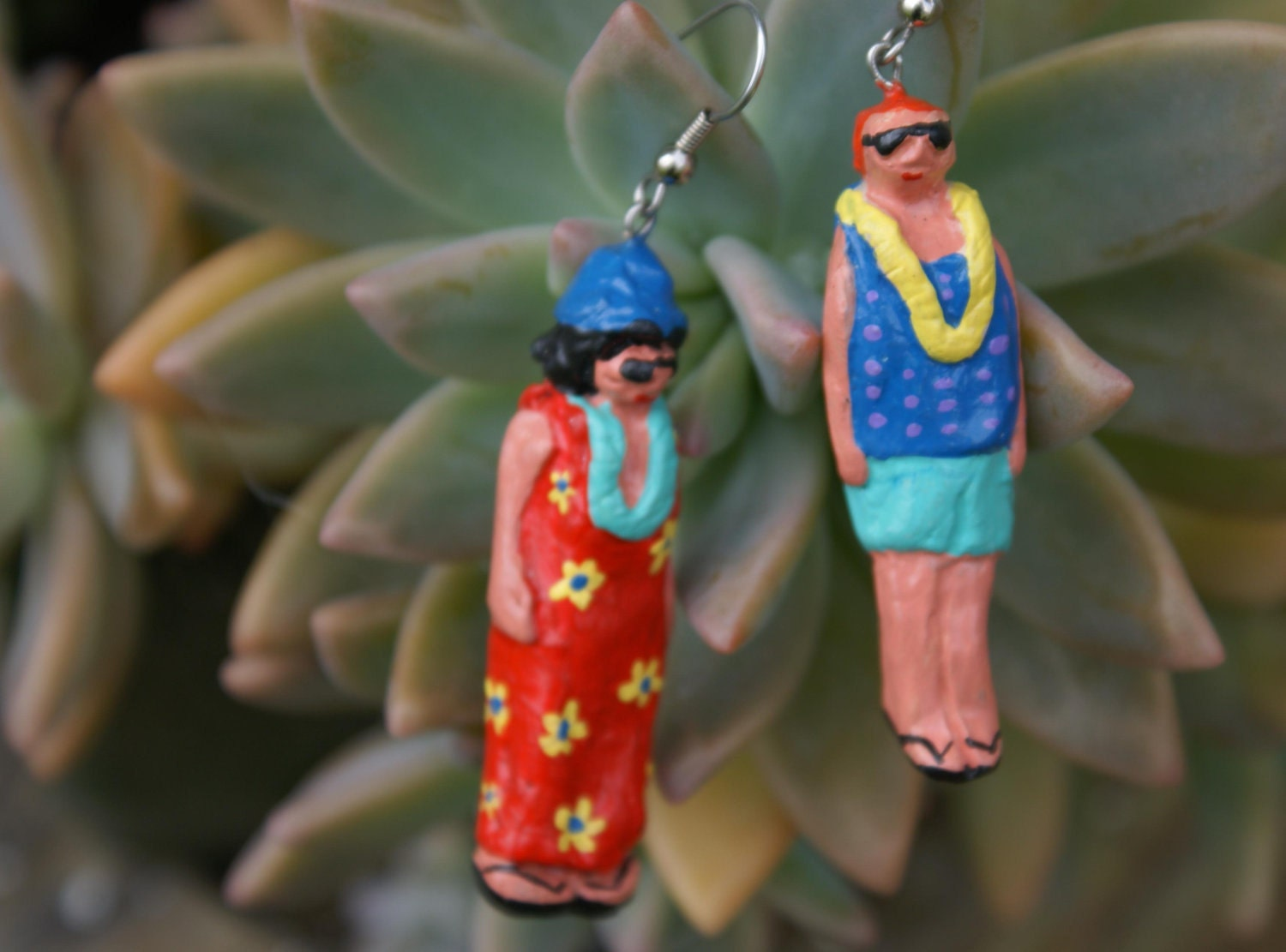 The Accidental Hawaiian Tourist Handmade Ugly Earrings