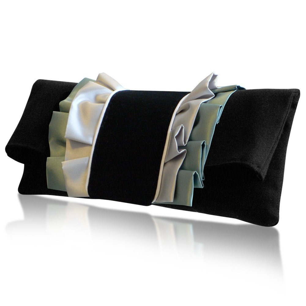 Olivia green clutch bag