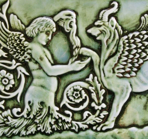 Angel and Gryphon Tile