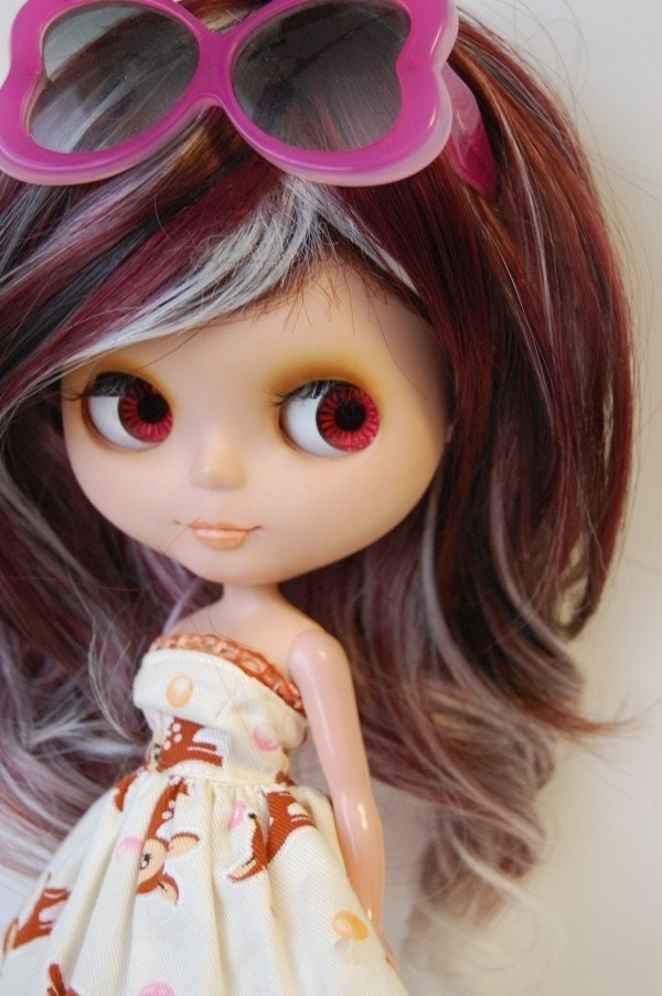 Curly Highlight wig for Blythe Dolls