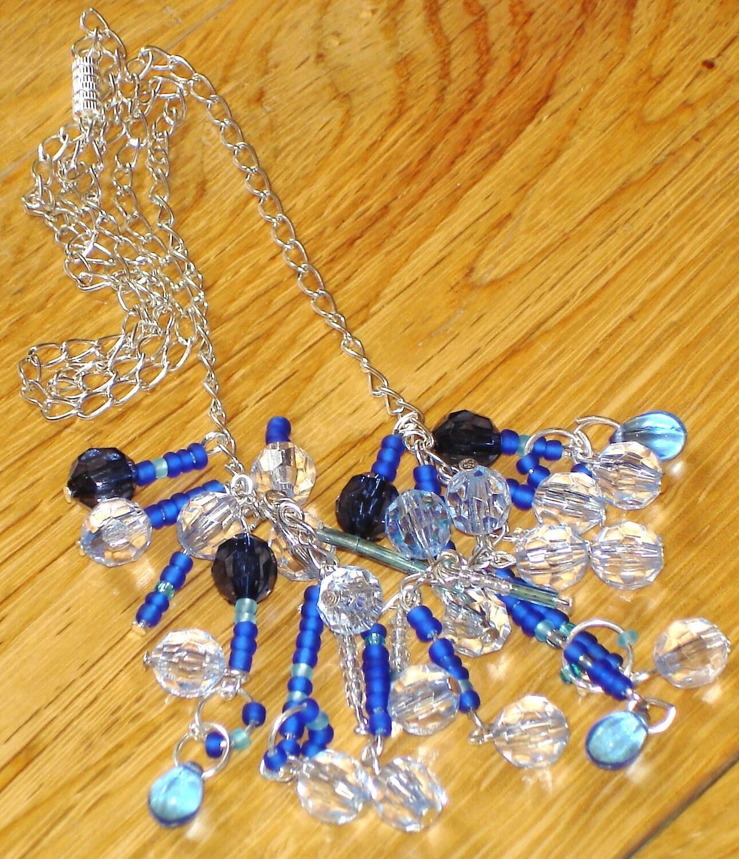City scape necklace (blue)