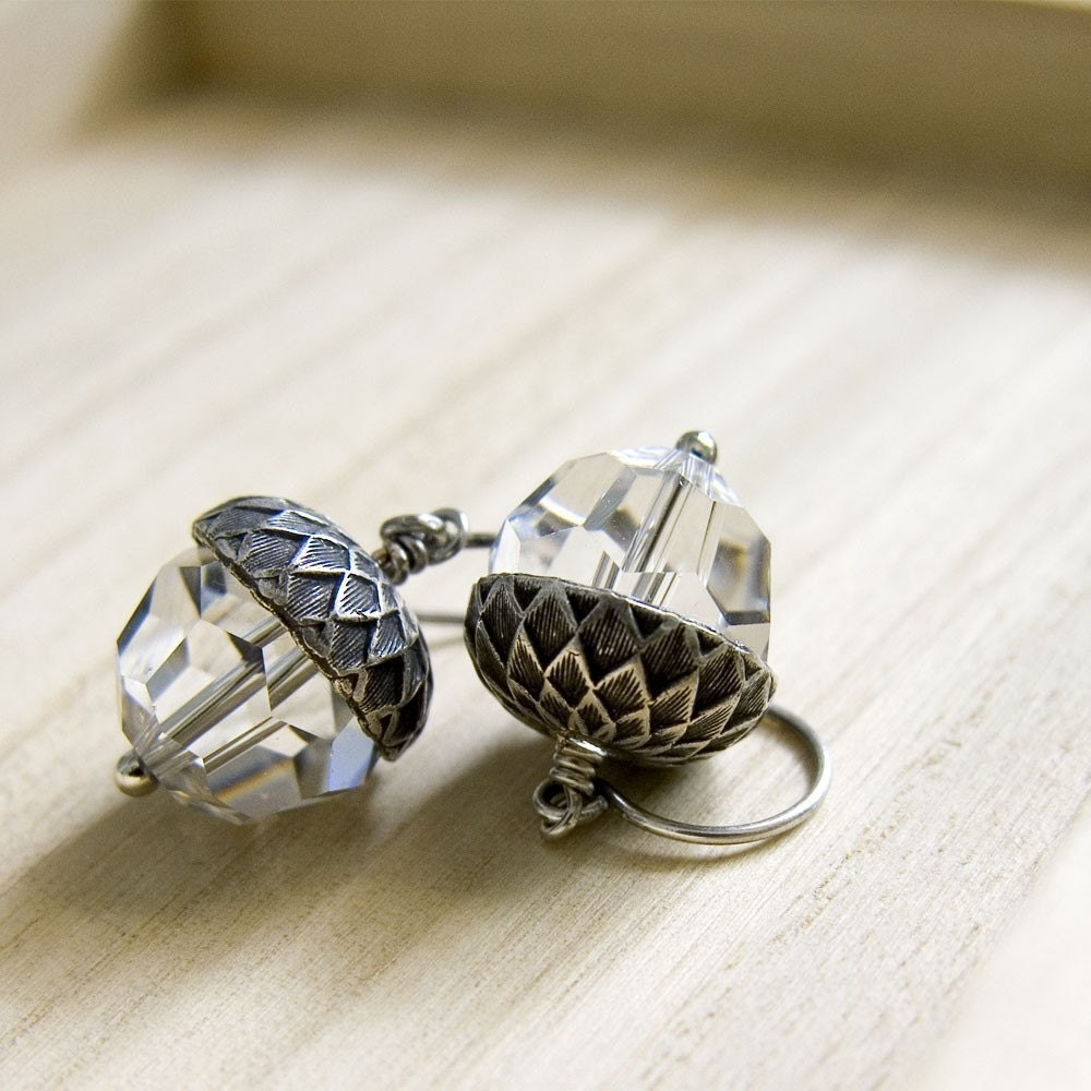 Ice Capped Acorn Earrings