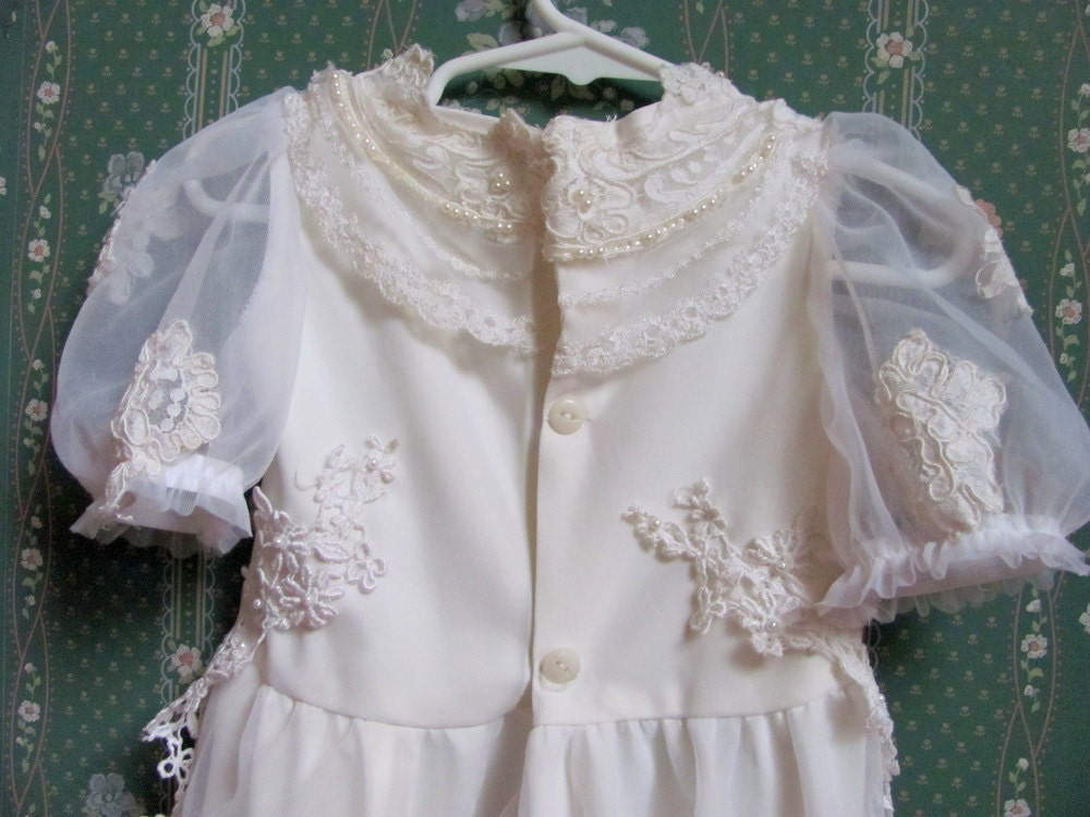 Christening Gown Toddler Infant Dress From your Old Wedding Dress