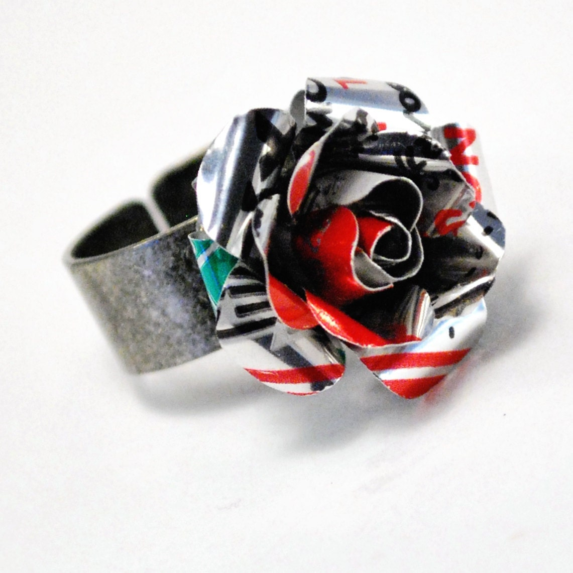 Recycled Jewelry Diet Coke Rose Ring - wearwolf