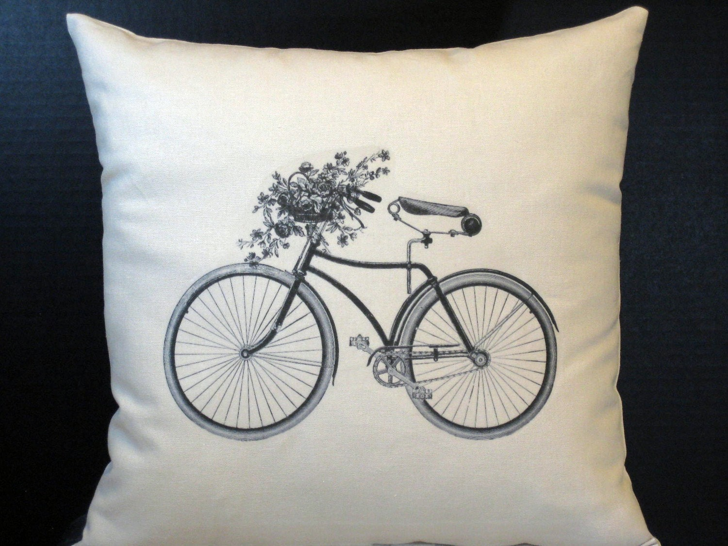 My Vintage Bicycle Pillow