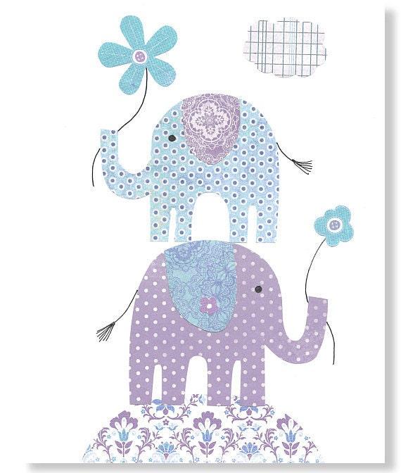 purple nursery elephant nursery art girl 39 s room decor children baby