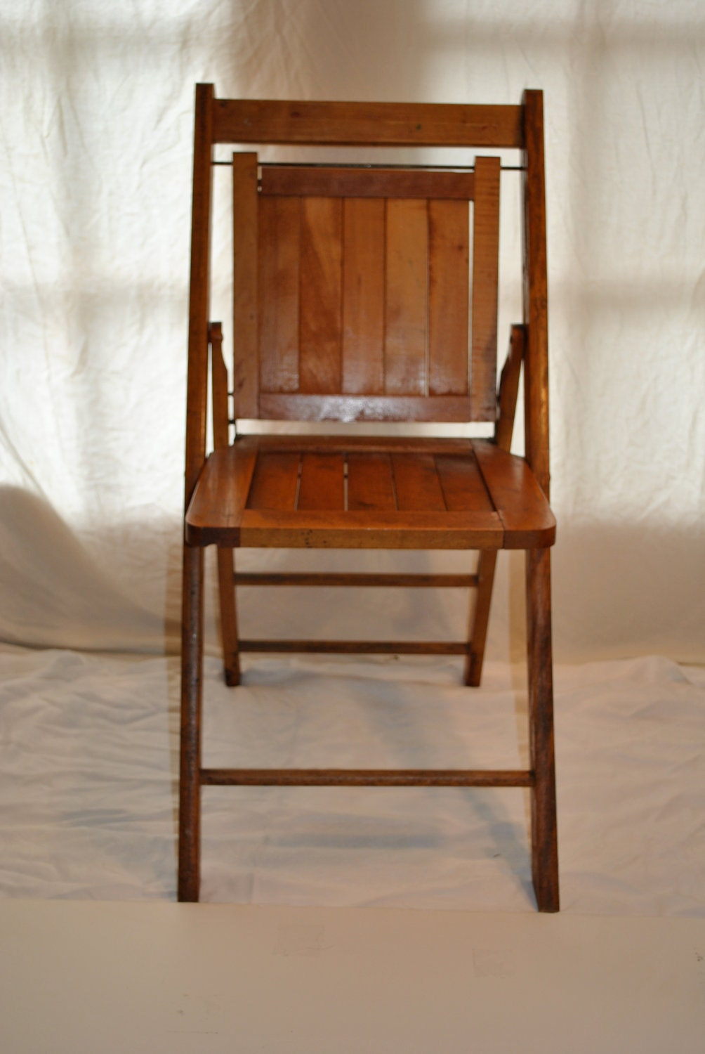 Items Similar To 3 Wood Folding Chairs Vintage Funeral Home Wedding Antique C