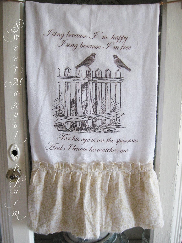 Мука мешок кухонное полотенце ... За свои глаза на Воробьевых ... для вашего дома, сельский дом или коттедж