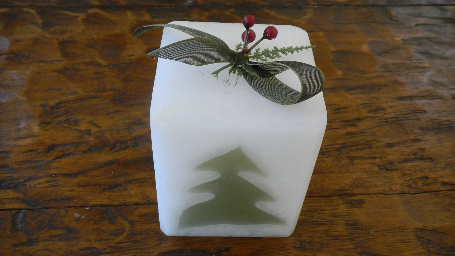Sage Mint Pine Tree Candle