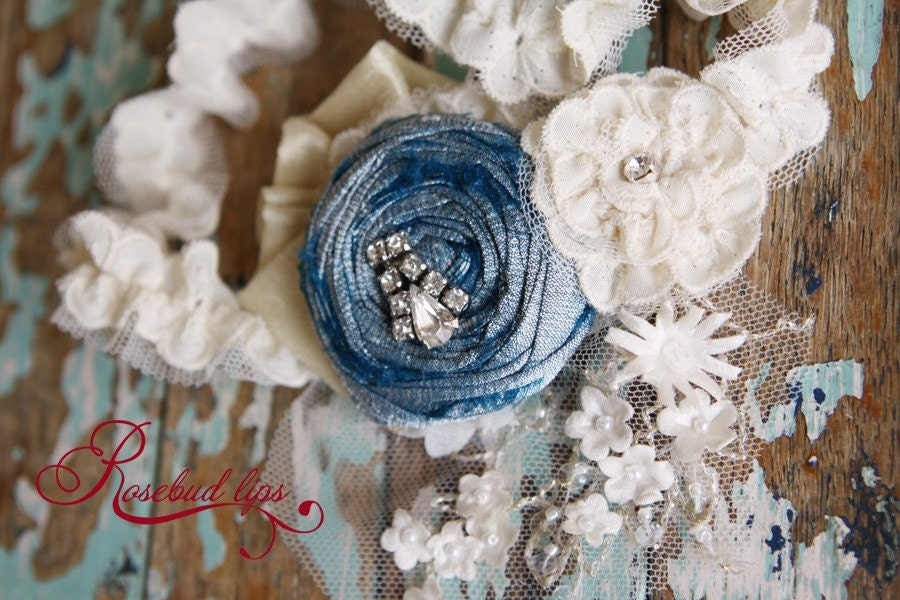 Betty Vintage Style Old, New, Borrowed, Blue Garter- Perfect gift for bride-to-be