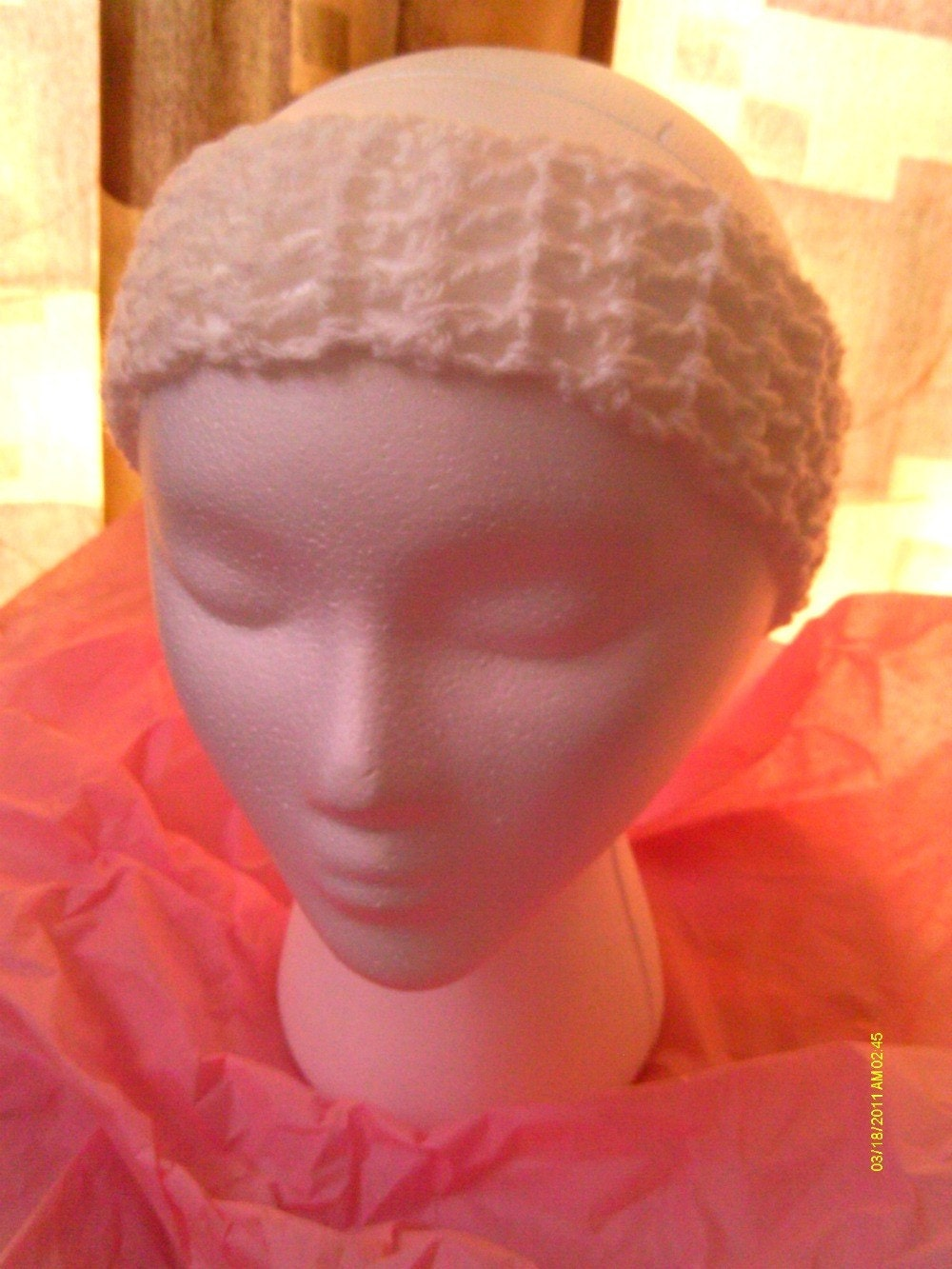 Buy ONE Get ONE Free SALE - Wide Hand Crochet Dreadband / Headband - White