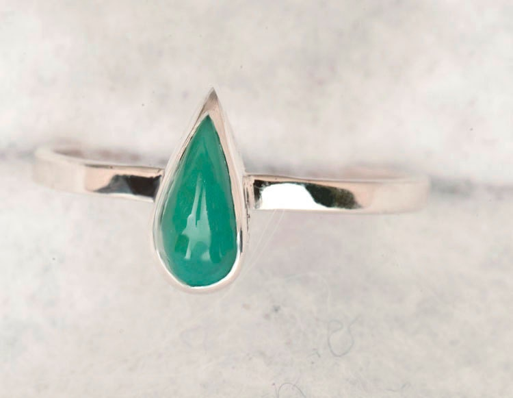 Chrysoprase  Sterling Silver Ring