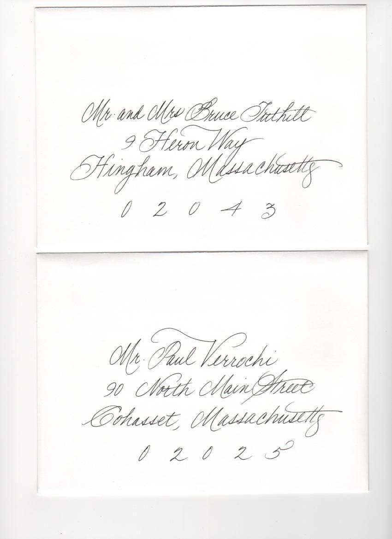Handwritten Envelopes/Calligraphy