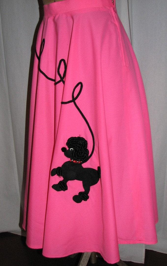 vintage POODLICIOUS pink poodle skirt