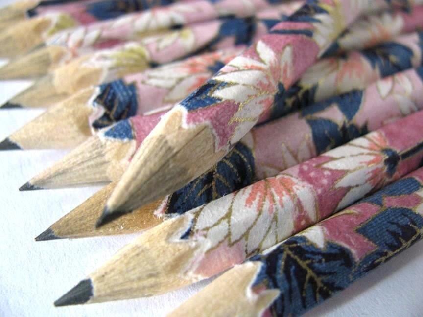 namaste - a set of 10 washi-coated pencils