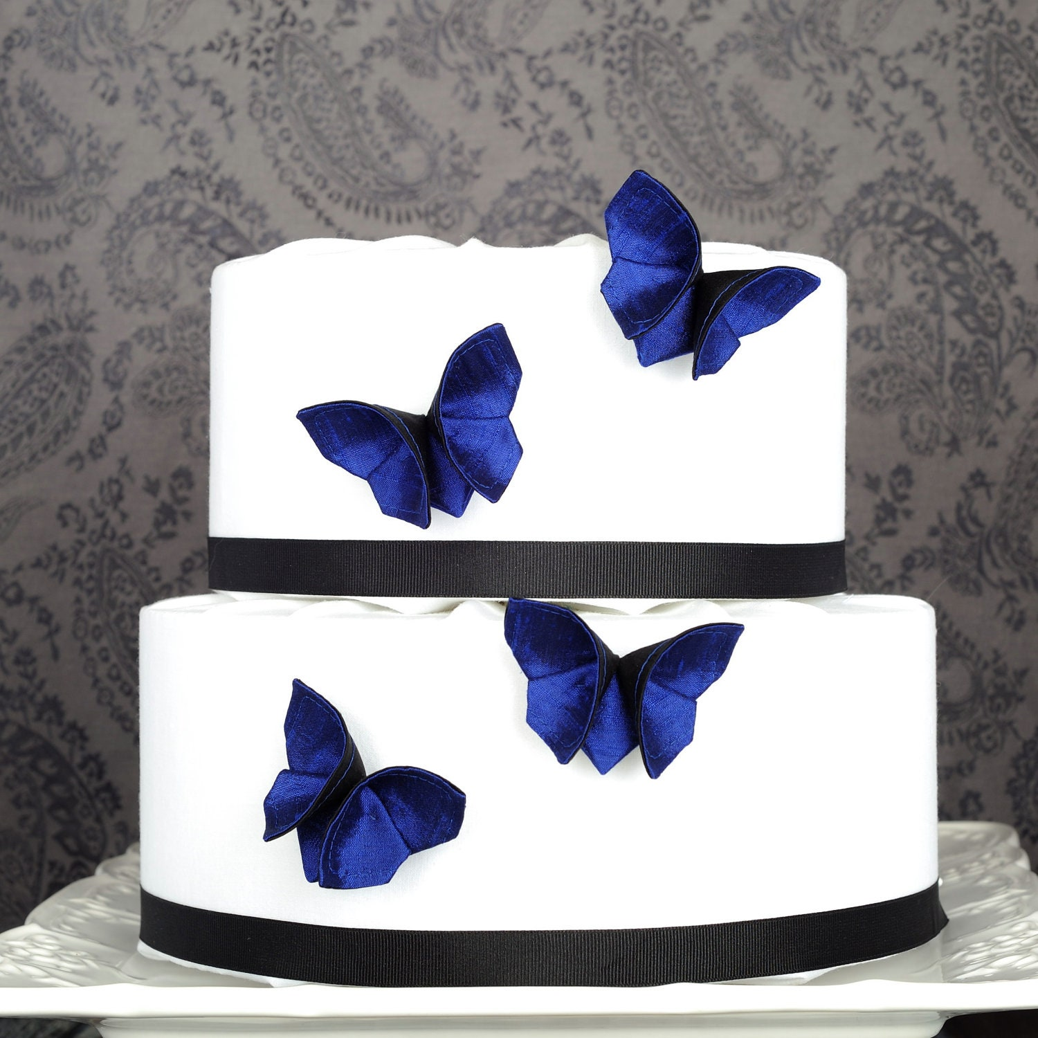 Etsy Cake Decorations : Items similar to Butterfly Wedding Cake Decorations SET OF ...