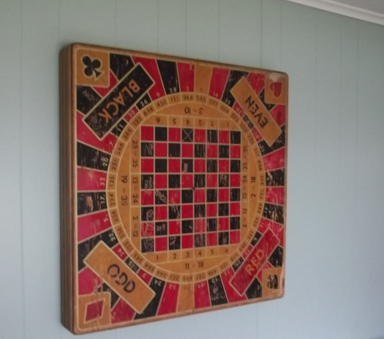 Vintage Folding Game Table Or Wall Hanging Poker By