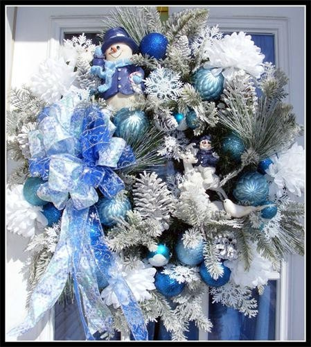 Items Similar To Christmas Snowman Holiday Winter Wreath