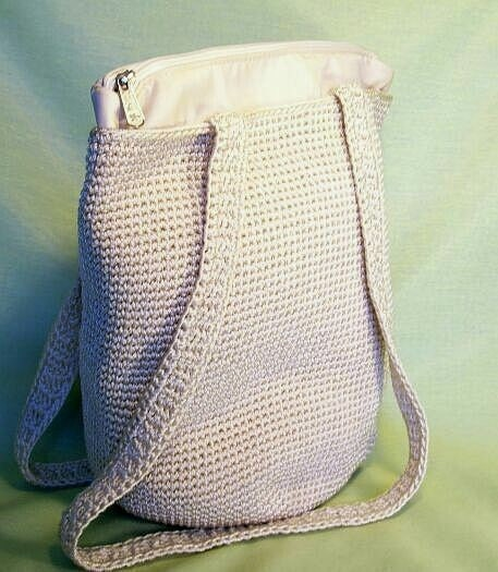 The Sak Purse Crochet : The SAK Bag Purse Ivory Crochet Large Shoulder Awesome by BazaarO