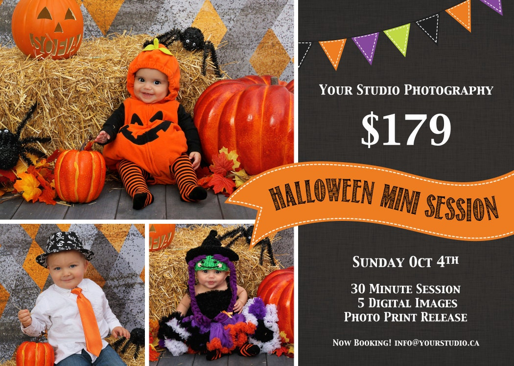 Items Similar To Halloween Mini Session Instant Download