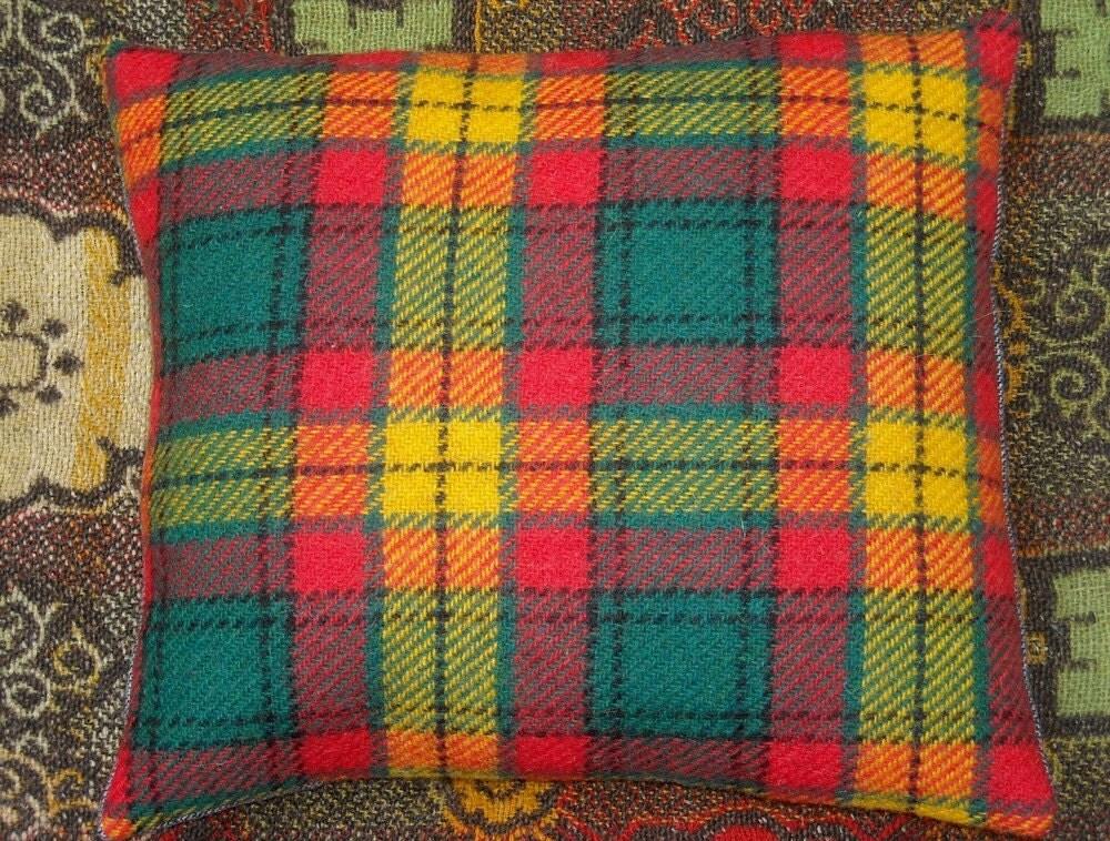 Bold Choice - Vintage Fabric Throw Pillow