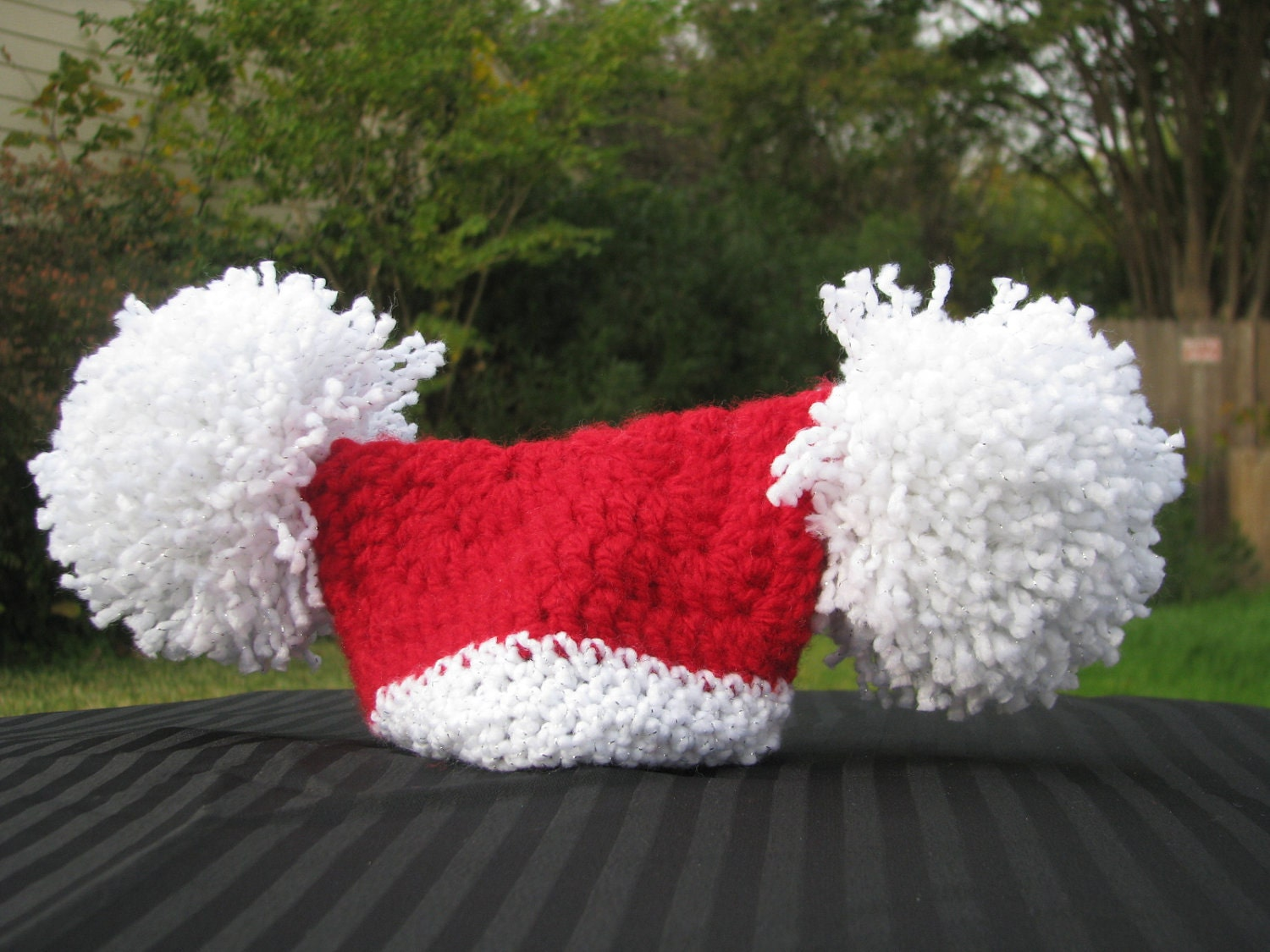 Newborn crochet Santa Hat by theTangledWeb on Etsy