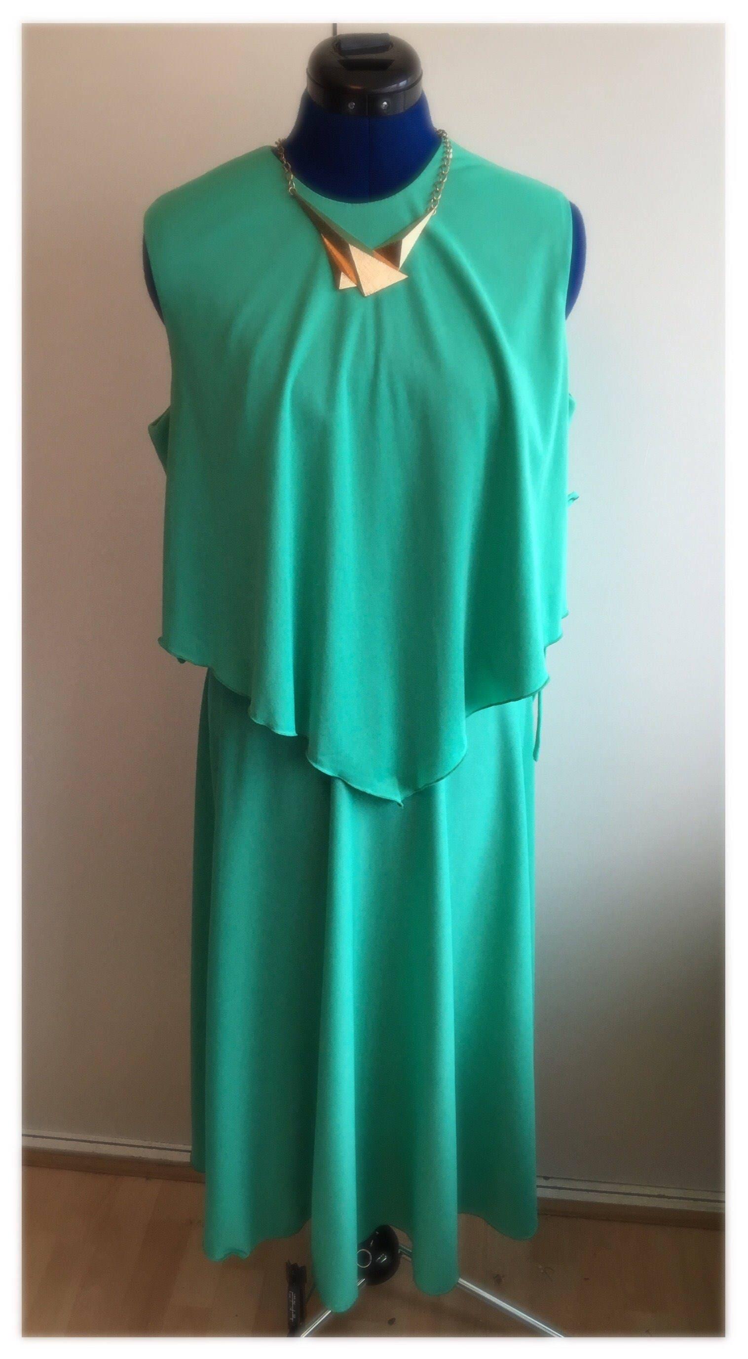1970s summer floaty maxi long glam retro vintage green dress