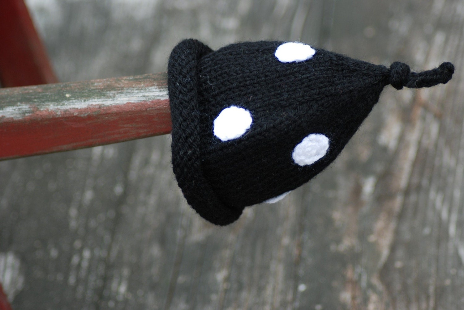 Spring Newborn CUSTOM Infant Baby Black and White Polka Dot Bonnet Boutique Hat