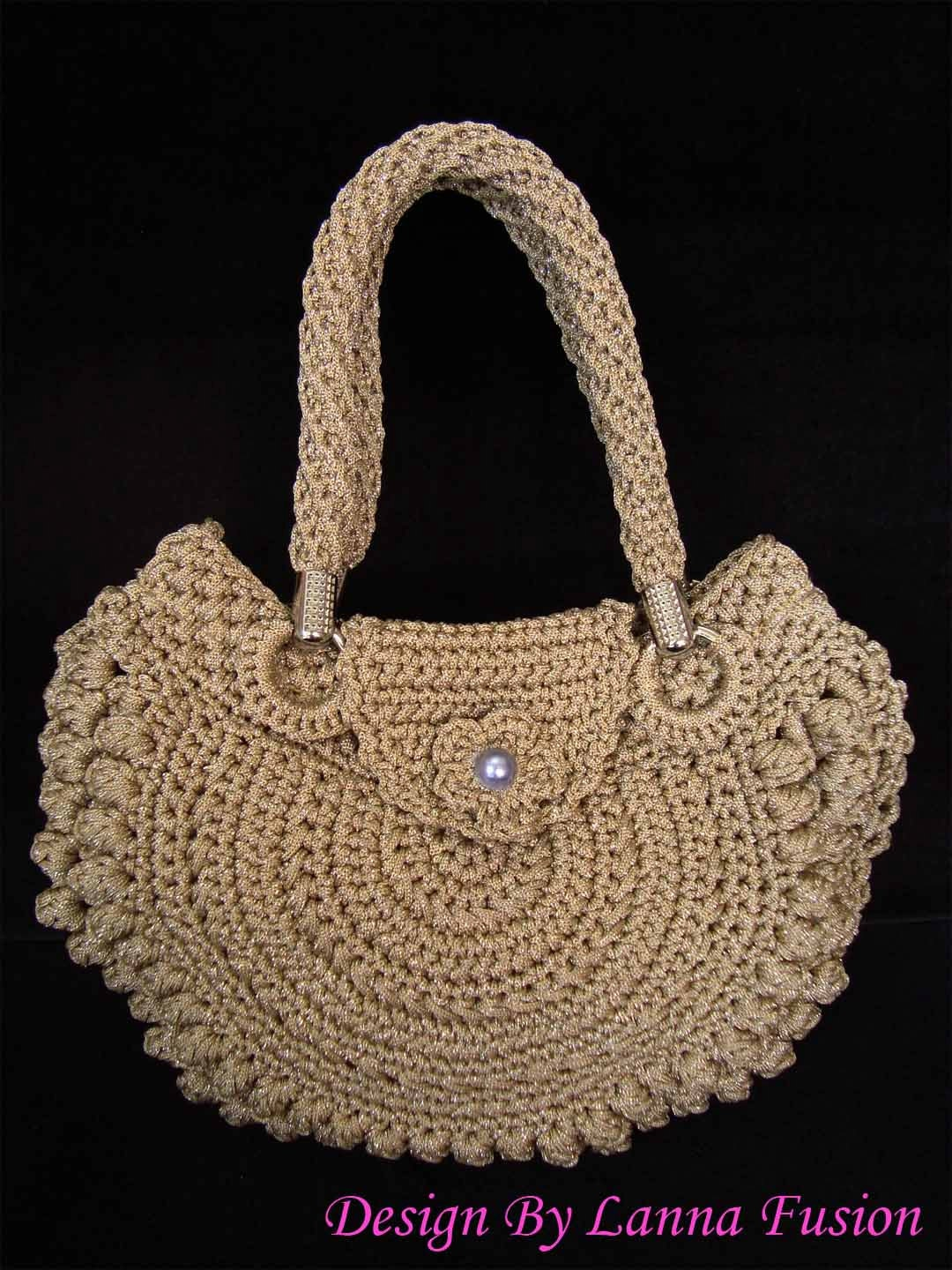 Light Brown Crochet Handle bags Brown Handbag Brown Purse Brown Tote ...