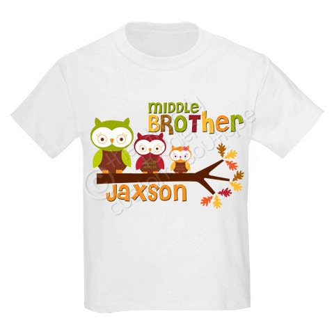 Personalized Sibling Owls Shirt, Perfect for Halloween Or Fall