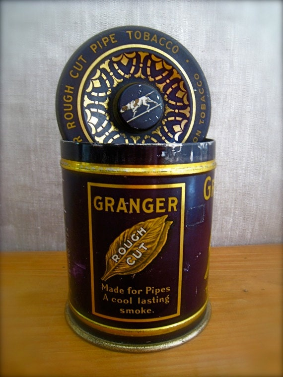 Antique Tobacco Tin Vintage Pipe Tobacco Advertising By