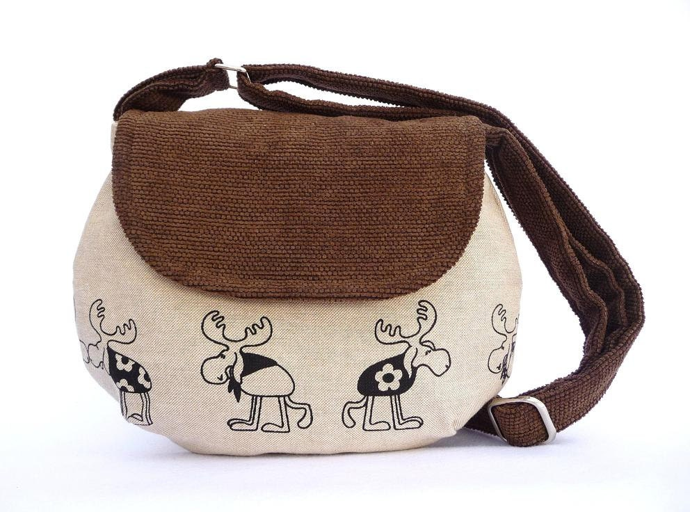 Medium size bag, Reindeer Christmas Purse, Gift for Xmas - SimplyBoheme