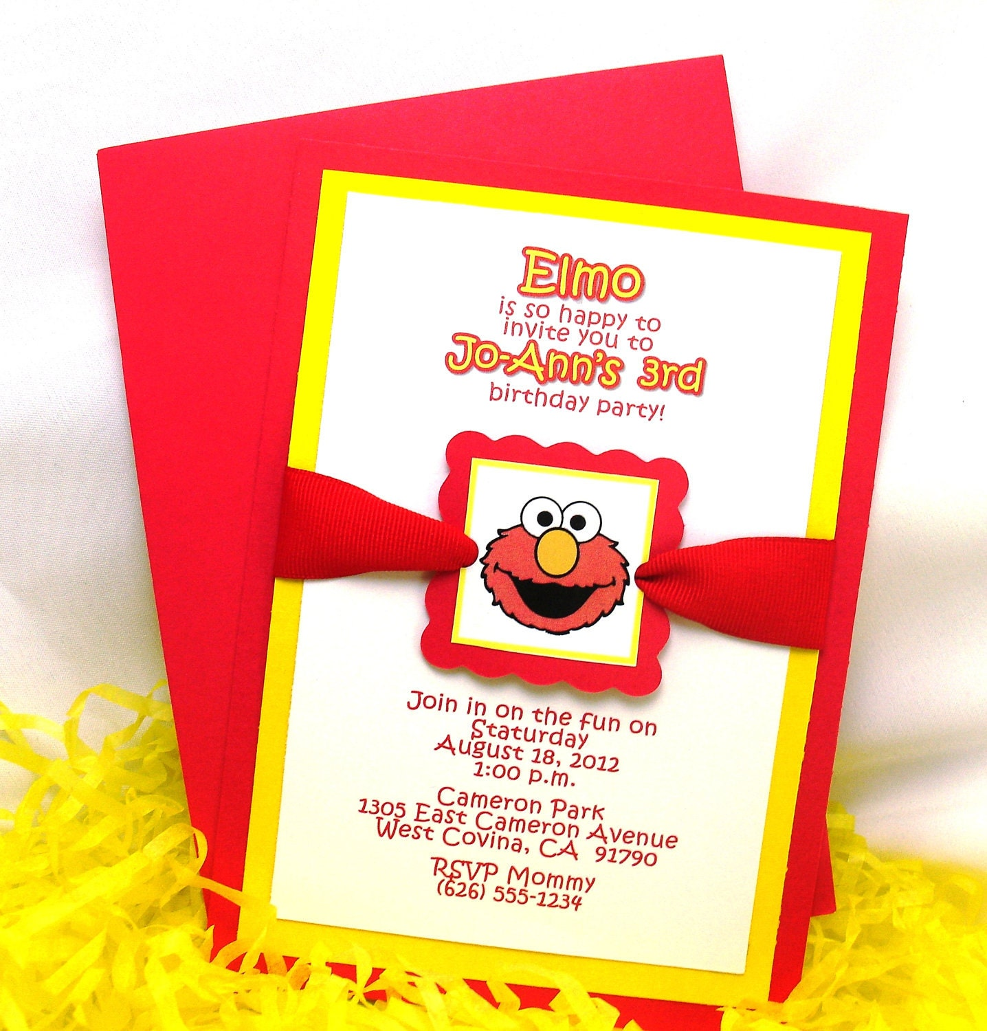 Make Your Own Elmo Invitations Online