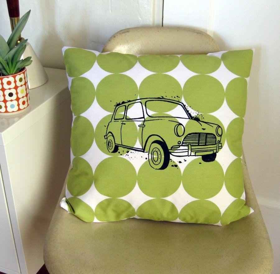 Classic Mini Cooper Pillow