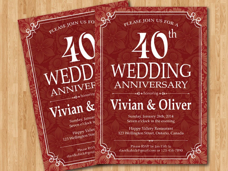 Popular Items For 40th Wedding On Etsy