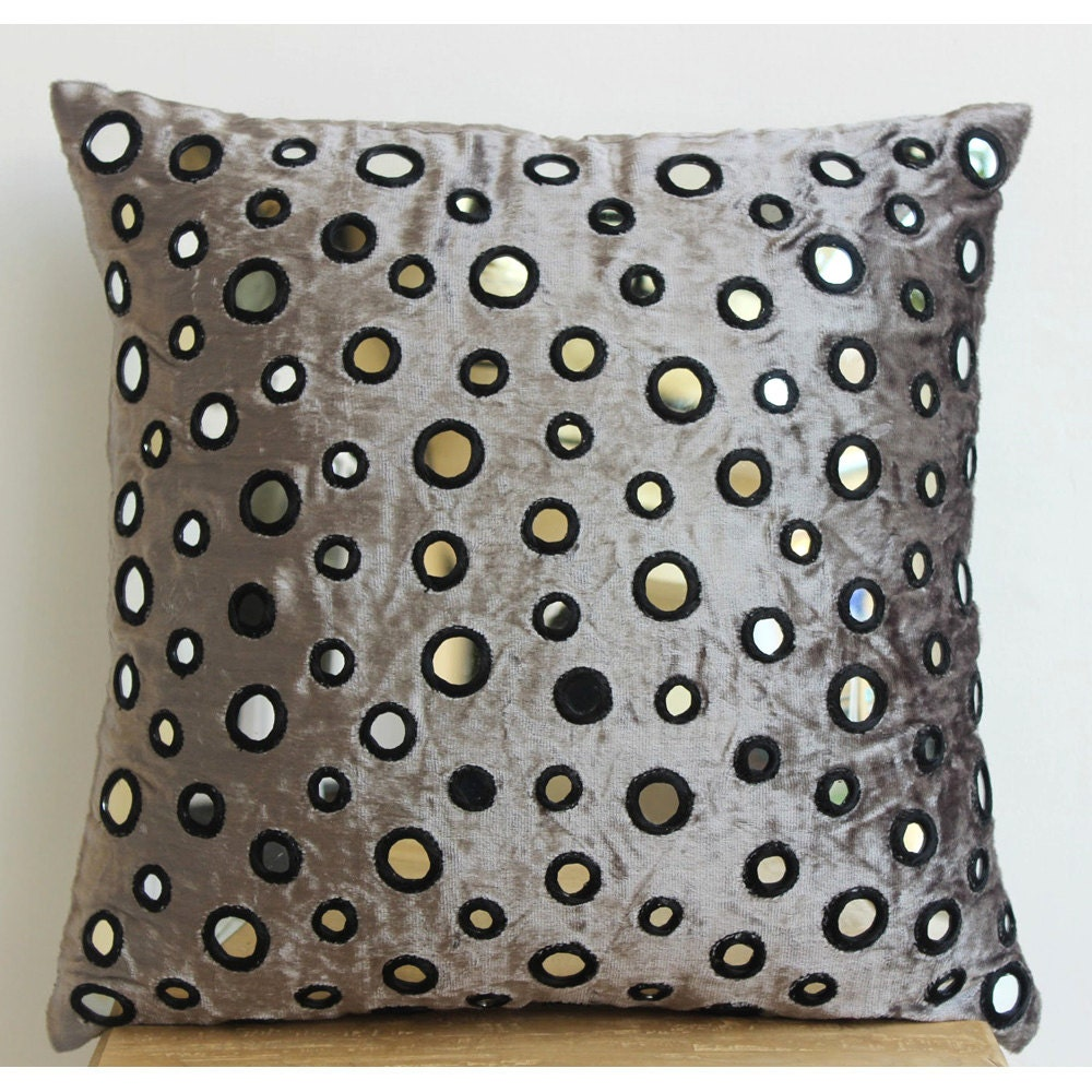 Silver Decorative Bed Pillows : Decorative Euro Sham Covers 26x26 Silver Gray by TheHomeCentric