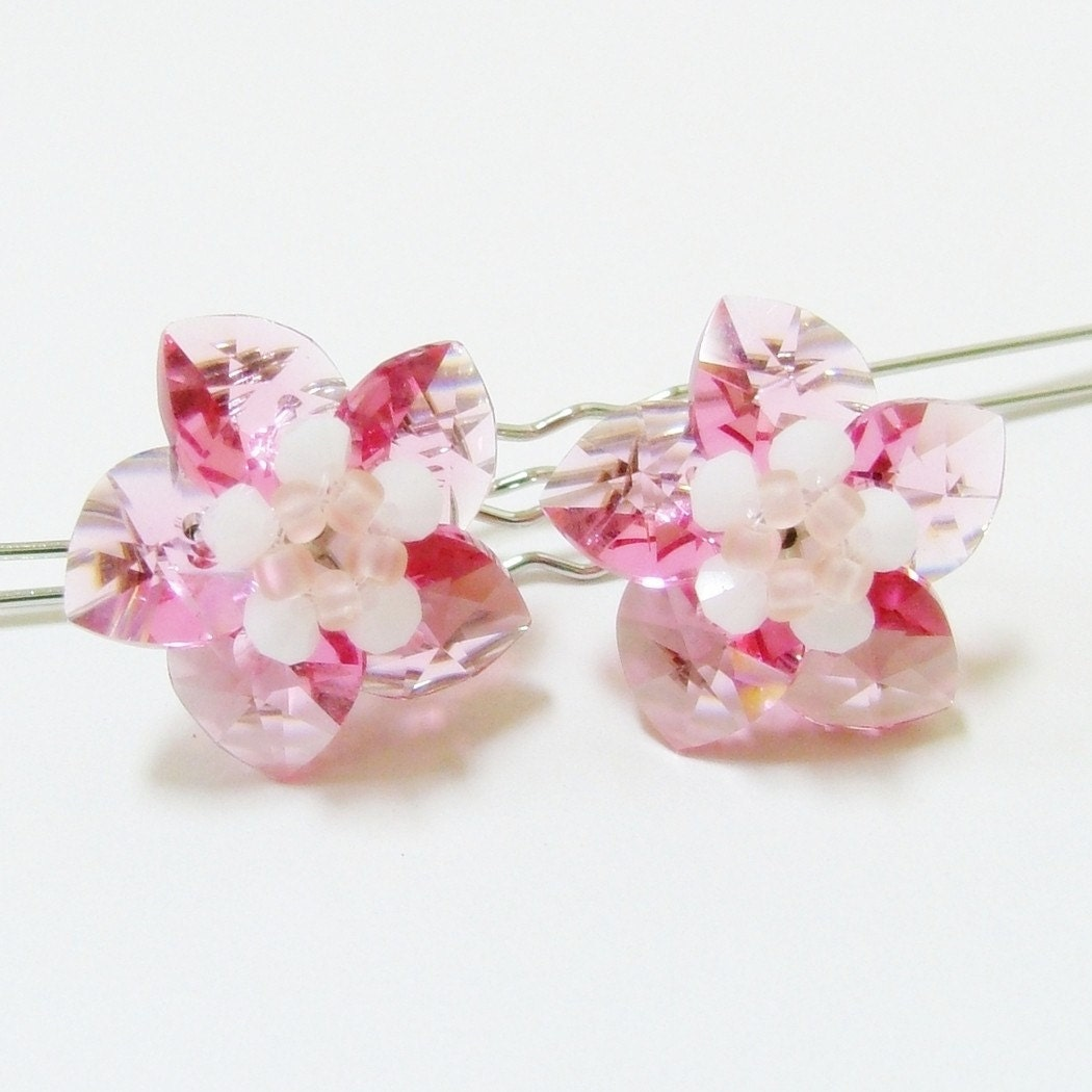 Star Flower Hairpins - 1 pair