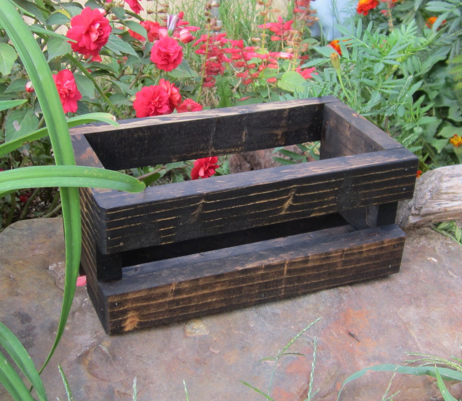 Small wood crate rustic centerpiece home by