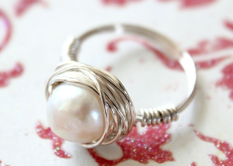 Sterling Silver Toddler Pearl Ring