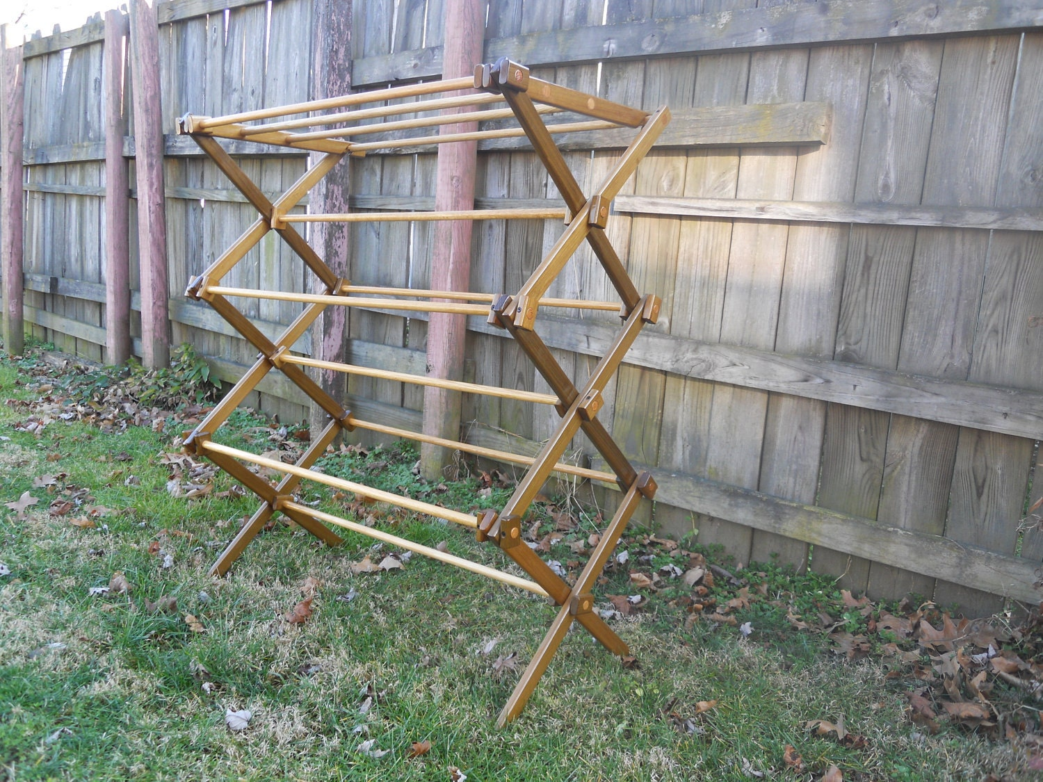 Bl working wooden clothes drying rack plans for Wooden clothes drying rack plans