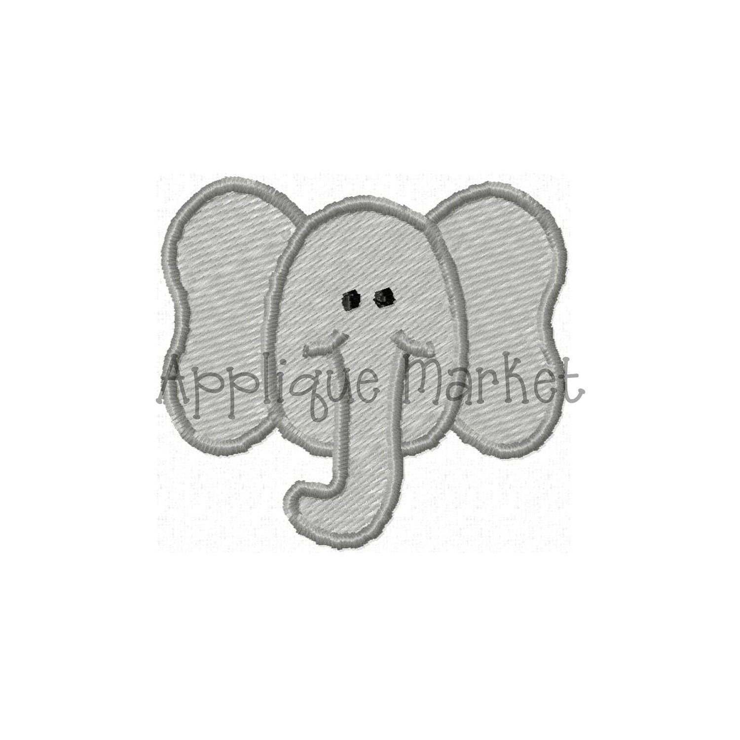 Machine Embroidery Design Elephant Mini INSTANT By Tmmdesigns